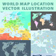 Set of World Maps Editable - GraphicRiver Item for Sale