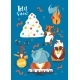 Christmas Cartoon Poster with Let It Snow - GraphicRiver Item for Sale