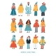Merry Christmas Poster with Women in Stylish - GraphicRiver Item for Sale