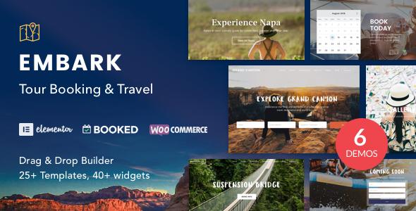Tour Booking & Travel WordPress Theme – Embark