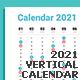 Calendar 2021 Vertical Design - GraphicRiver Item for Sale