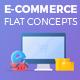 E-Commerce Flat Design Concepts - VideoHive Item for Sale