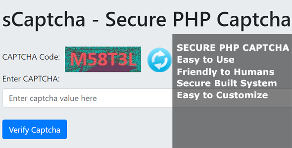 sCaptcha - Secure PHP Captcha