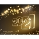 2021 Christmas Garland with Light Lamp and Stars - GraphicRiver Item for Sale
