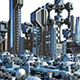 Futuristic City Pack 7. Industrial Skyline - GraphicRiver Item for Sale