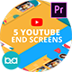 YouTube End Screens Vol.3 | Premiere Pro MOGRT - VideoHive Item for Sale
