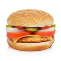 Cheeseburger isolated on white background. - PhotoDune Item for Sale