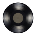 12-inch vinyl record with blank black label isolated. - PhotoDune Item for Sale