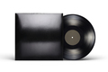 Vinyl LP record with blank black cardboard cover isolated on white. - PhotoDune Item for Sale