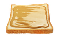 Slice of toasted bread with peanut butter isolated on white. - PhotoDune Item for Sale