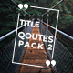 20 Qoutes Titles Instagram Pack 2 - VideoHive Item for Sale