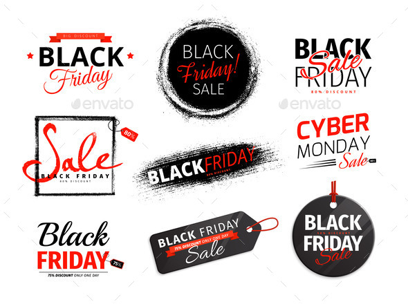 Black Friday and Cyber Monday Badges