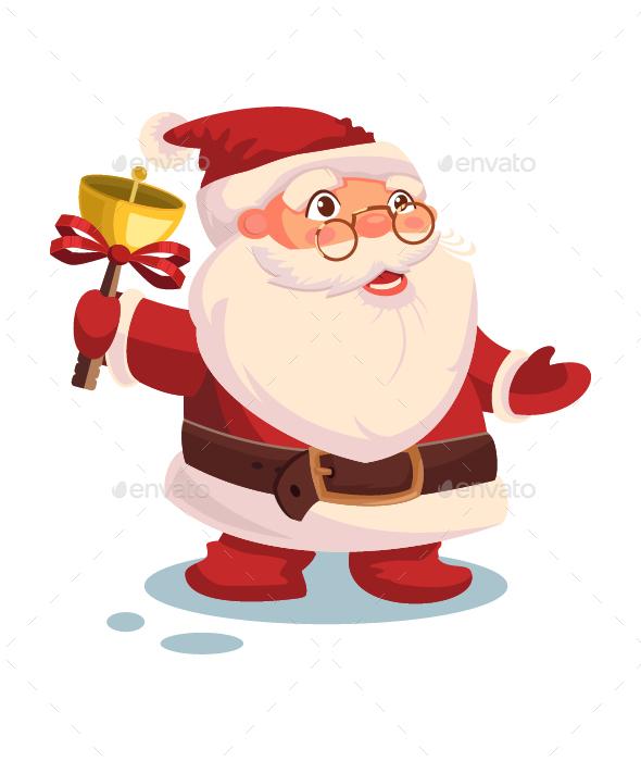 Santa Claus Vector Christmas Illustration.