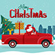 Santa Claus delivering gifts - GraphicRiver Item for Sale