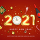 Happy New Year 2021greeting card - GraphicRiver Item for Sale