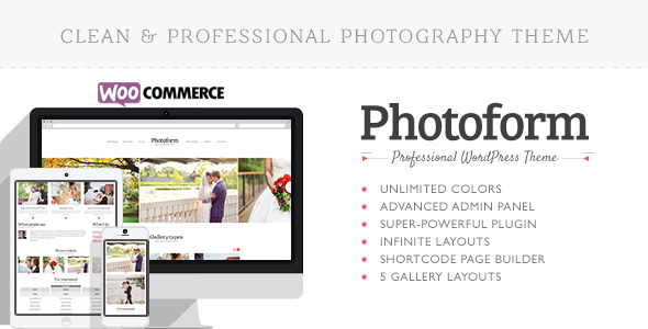 Download Photoform – Photography WordPress Theme Nulled