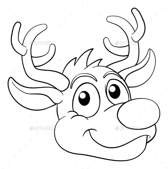 Christmas Cartoon Reindeer Character