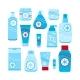 Winter Skin Care Woman Moisturizer Cream Icon Set - GraphicRiver Item for Sale