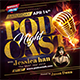 Podcast Night Flyer - GraphicRiver Item for Sale