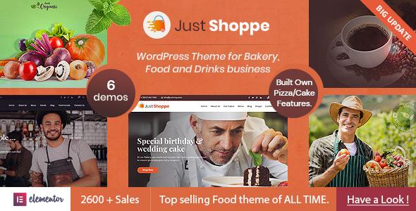 Justshoppe – Elementor Cake, Bakery & Food WordPress