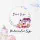 Premade Logo Cupcake, Watercolor Logo - GraphicRiver Item for Sale