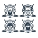 Hockey Team Logo in Retro Style - GraphicRiver Item for Sale