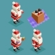 New Year Christmas Isometric Santa Claus Lowpoly - GraphicRiver Item for Sale