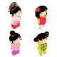 New Year Wear Chinese Girls Flat Design Characters - GraphicRiver Item for Sale