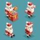 Santa Claus Christmas Lowpoly Polygonal New Year - GraphicRiver Item for Sale