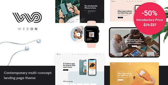 WebOn – Landing Page WordPress Theme