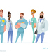 Medical Men Characters in Standing Pose - GraphicRiver Item for Sale