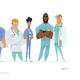 Medical Men Characters in Standing Pose. - GraphicRiver Item for Sale