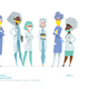 Medical Women Characters in Standing Pose. - GraphicRiver Item for Sale