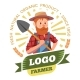 Farmer, Farm Products and Organic Food Label - GraphicRiver Item for Sale