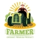 Farm and Farmer, Organic Product Premium Label - GraphicRiver Item for Sale
