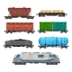 Train Freight Wagons, Cargo Box Car Containers - GraphicRiver Item for Sale