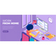 Woman working from home - GraphicRiver Item for Sale