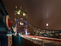 London Tower Bridge and the Shard with Holidays Lights - PhotoDune Item for Sale
