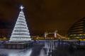 Christmas Tree and London Tower Bridge, UK, England - PhotoDune Item for Sale