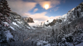 Snowy Winter at Yosemite National Park Tunnel View - PhotoDune Item for Sale