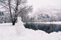 Snowman and Snowy Winter at Yosemite National Park - PhotoDune Item for Sale