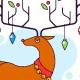 Reindeer on the clouds illustration - GraphicRiver Item for Sale