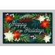 Happy Holiday Postcard with Flower and Plants - GraphicRiver Item for Sale