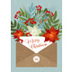 Christmas Letter with Flower and Plants. Vector - GraphicRiver Item for Sale