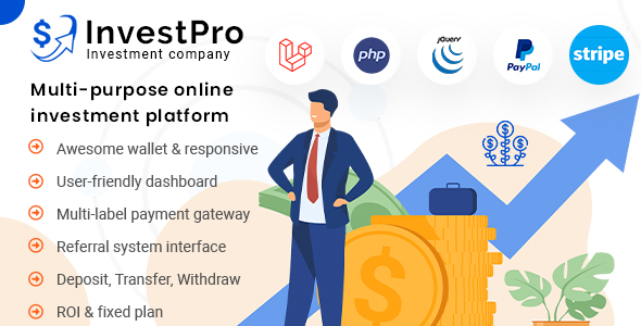 Download InvestPro – Wallet & Banking Online Investment Platform Nulled
