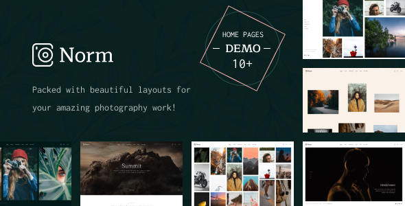 Norm – Photography Elementor WordPress Theme