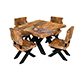 natural wood table  chair 02 - 3DOcean Item for Sale