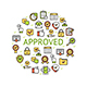 Approve Round Design Template Thin Line Icon - GraphicRiver Item for Sale