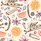 Pattern with Ingredients ans Spices for Mulled Wine - GraphicRiver Item for Sale