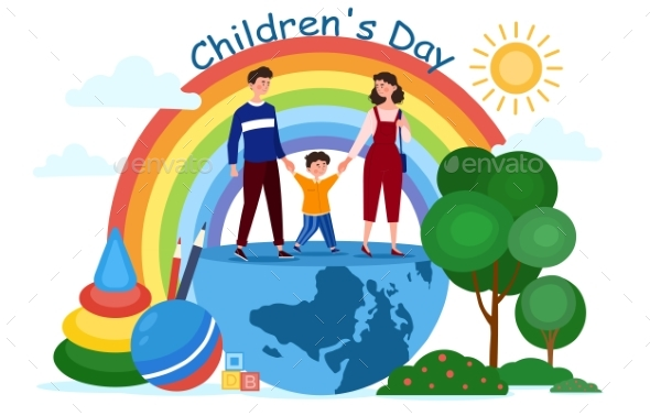 Concept of Happy Childrens Day
